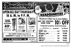 1952 newberry's christmas ad (albany group archive) Tags: albany ny 1952 newberrys christmas ad