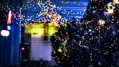 Winter in the city .4357 (Permange Antonio) Tags: winter romania nikon d3300 photo photography amateur new learning hobby morning walk city like after work street downtown flickr 2016 december holiday lights yellow orange blue