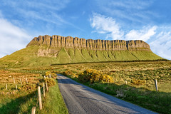 """Bennbulben"" Table Moutain - Sligo - Ireland (Gareth Wray - 9 Million Views - Thank You) Tags: gortarowey valley benbulben ben bulben county sligo mountain hill cliff landscape scape donegal ireland irish award nature natural tourist site scenic summer visit nikon d810 gareth wray photography strabane blue sky nikkor 1424mm lens sun colourful photographer hills mountains walk heather trees plants big stack yellow flowers bushes table top dartry glencar benbulbin grange clear day vacation holiday europe bulbin tree bog marsh outdoor field grassland mountainside grass yeates country wb"