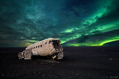 Just[in] a Bieber Party ! (CResende) Tags: iceland wrecked aurora borealis airplane travel cresende night longexposure stars walk bieber green blue blacksand 1424 nikon wide