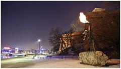 Wawel Castle Dragon (kkrasnall) Tags: kraków cracow canon dragon flame winter stone wisła wawel castle night