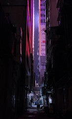 """alley life"" (i) (hugo poon - one day in my life) Tags: xt2 23mmf2 hongkong causewaybay tanglungstreet citynight colours alley lane streetlife dark lights break solitude longnight urban city skyscrapers"