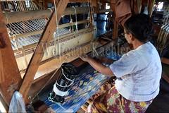 30098739 (wolfgangkaehler) Tags: asia asian southeastasia myanmar burma burmese inlelake villagelife lake innpawkhonevillage woman workshop people worker working weaver weaving weavingloom weavinglooms weavingcloth loom looms