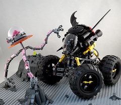 Batrover in action (TFDesigns!) Tags: lego batman movie rover febrovery space vehicle lug steel city tires