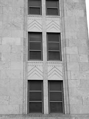 Grady County Courthouse in Chickasha, Oklahoma (kevinellison62) Tags: blackwhite gradycountycourthouse courthouse judicialbuilding artdeco architecture building oldbuilding chickasha oklahoma carving court