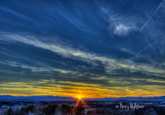 Sunset Sashes Roanoke Valley (Terry Aldhizer) Tags: terryaldhizer terry aldhizer sunset sashes roanoke valley blue ridge mountains sky clouds sun february wwwterryaldhizercom