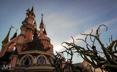 Pretty castle in the sun (Jojo_VH) Tags: 2015 chateaudelabelleauboisdormant dlp disneylandparis halloween sleepingbeauty sleepingbeautycastle castle classic disney fantasyland pretty sky