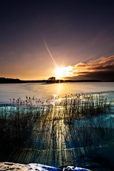 Sunset (martinbrun) Tags: sunset ice clouds colors winterland winter sun sunsets backround colours