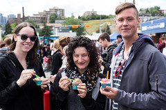 Audience @ Lukes Drug Mart Pre-Fest Party. 2015 Sled Island. (Sled Island Photo) Tags: food canada calgary outdoors photo audience alberta 2015 sledisland davidkenney lukesdrugmart