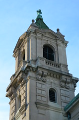 Sacred Heart Tower (pjpink) Tags: church architecture virginia spring catholic cathedral may richmond rva 2015 thefan cathedralofthesacredheart fandistrict pjpink