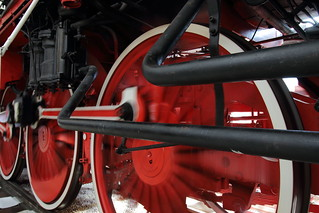 Steam locomotive's moving wheels 2