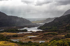 Atmospheric Ladies View (dorameulman) Tags: ireland sky rain clouds landscape outdoor kerry atmospheric ringofkerry ladiesview thelakesofkillarney dorameulman