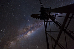 The Core vs. the Karoo Windmill (TheAstroShake) Tags: windmill night stars space galaxy core milkyway