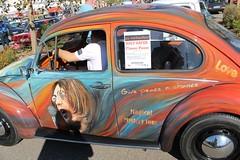VW Beetle 1200 Jeans (1974) - handpainted (photo 4 of 6) (Mc Steff) Tags: flower vw bug volkswagen 1974 power beetle jeans handpainted 1200 flowerpower airbrush kfer 2014 breuningerland handbemalt
