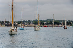16th July heading out for the Ile de Brehat race (Matchman Devon) Tags: classic regatta channel paimpol 2015