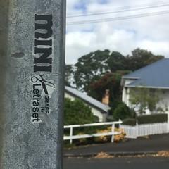 Mini Graff letraset sticker… (Miss Mini Graff) Tags: newzealand sticker letraset minigraff auckland greylynn 2016 december streetart stickers