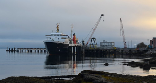 A Changing Scene; MV Isle of Arran at Brodick