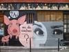 Oji et artiste inconnu(e) : de l'art ou du cochon ? (Archi & Philou) Tags: cochon visage face murpeint paintedwall streetart paris18 montmartre oji inconnu unknown