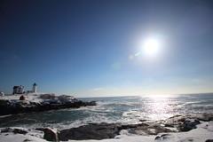 DPP_5158 (dncummings) Tags: york maine january snow coast ocean nature landscape photography coastline nubble lighthouse