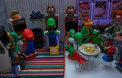 DSC06307 (IGypsyWoman) Tags: retrogaming nintendo mario link muppets rizzo kermit toyphotography