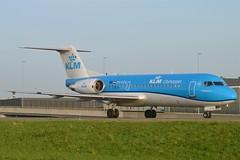 KLM Cityhopper PH-KZB Fokker F70 cn/11562 @ EHAM / AMS Taxiway Q 28-12-2015 (Nabil Molinari Photography) Tags: klm cityhopper phkzb fokker f70 cn11562 eham ams taxiway q 28122015