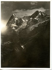 Eiger and Monch (david.horst.7) Tags: switzerland eiger monch mountain vintage bw blackandwhite monochrome scenery