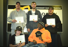 Andrew T, Lucas H, Darryl O, Justin L and Earl S (High Velocity Equipment Training) Tags: hvet highvelocityequipmenttraining camrose equipment heavyequipment heavyequipmentoperators operators equipmentoperator happy graduation laughing students certificate grads