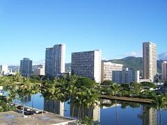 Ala Wai Canal (tompa2) Tags: canal kanal vatten höghus palm honolulu hawaii waikiki