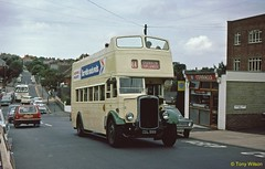 23 SVOC 702 Bristol K5G ECW Shanklin July761 (Copy) (focus- transport) Tags: isleofwight iow steamship londonundergroundtube tubetrain southernvectis vectis fountaincoaches buses coaches opentoppers bristol k mw re vr sul easterncoachworks ecw marshall ld lodekka lh lhs bedford ymt ymq duple plaxton sb brush nbc srn6 hovercraft national bus company ryde newport sandown shanklin yarmouth freshwater luccombe ventnor