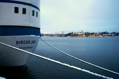 m/s Birger Jarl (*Kicki*) Tags: cold stockholm sweden stadsgården birgerjarl ship boat ferry sea water sky skeppsholmen port winter snow stockholmsström strömmen harbour soligorafzoom1935mmf3545mc