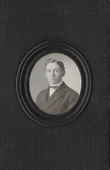 Found photo from an antique store in Ellicott City, Maryland; 3.25 X 2 inch card with an inserted 1.25 X 1.25 inch photograph. (A CASUAL PHOTGRAPHER) Tags: itsnotacapture portraits men 19thcentury studiophotography cardstock photosmountedoncardboard
