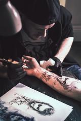 Artist of Ink (Foto di Chris) Tags: tattoo tattooartist ink inkart portrait artistic editorial jokertattoo joker