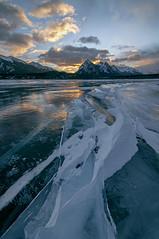 Drifting (Len Langevin) Tags: alberta canada abrahamlake rockies rocky mountains ice frozen snow winter landscape nature sky clouds sunrise nikon d300s tokina 1116