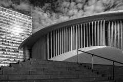 Philharmonie (John fae Fife) Tags: fujifilmx noiretblanc philharmoniedeluxembourg monochrome xt1 kirchberg blackandwhite bw philharmonie luxembourg
