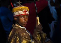 Ethiopian orthodox priest celebrating the colorful Timkat epiphany festival, Amhara region, Lalibela, Ethiopia (Eric Lafforgue) Tags: adult africa africanethnicity amhararegion celebration ceremony christian colourpicture copticchristianity culture day developingcountry eastafrica epiphany ethio17401 ethiopia ethiopian horizontal hornofafrica humaninterest lalibela lookingatcamera multicoloured onemanonly oneperson ornate orthodox outdoors people photography pilgrimage priest religion religious religiouscelebration semienwollo timkat togetherness traditionalceremony traditionalclothing traveldestinations unescoworldheritagesite