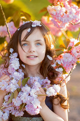 Photographer Vladimir Tverdokhlib (lauretta.adelia) Tags: life park pink flowers summer portrait baby white tree cute green nature girl beautiful face childhood smiling garden cherry outdoors happy person one leaf kid spring eyes toddler day child bright little blossom small joy blowing scene petal smell dreams attractive innocence cherryblossom cheerful ornamental playful enjoyment springtime blooming caucasian