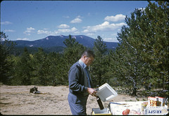 Picnic. 1969 (mel's old ads and mags) Tags: trees food usa man mountains male 1969 nature america vintage outdoors bottle 60s picnic outdoor candid natureza slide bluesky oldphoto soda 1960s kodachrome foundphoto sixties slidescan colorslide 35mmslide vintagephoto oldslide fotoantiga anos60 vintagepicture kodachromeslide vintagescan vintagemale kodakslide vintagefun anossessenta vintageincolor kodachromeslidescan vintagecandid