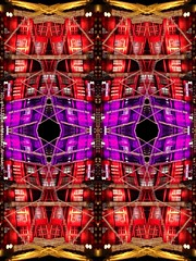 Christmas mask (philippem) Tags: christmas abstract lights mirror symmetry creativeedit philippem