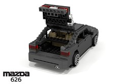 Mazda 626 Capella Liftback (GE - 1991) (lego911) Tags: auto car japan japanese model lego stuck g render 1991 hatch mazda ge challenge 92 1990s 90s cad lugnuts hatchback povray 5door 626 moc capella ldd miniland liftback 5dr lego911 stuckinthe90s