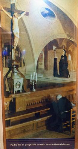 St. Pio in the Choir Loft