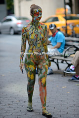 NYC Bodypainting Day 2015 (NSFW) (NormanDingPhotography) Tags: nyc red nude photography outdoor bodypainting