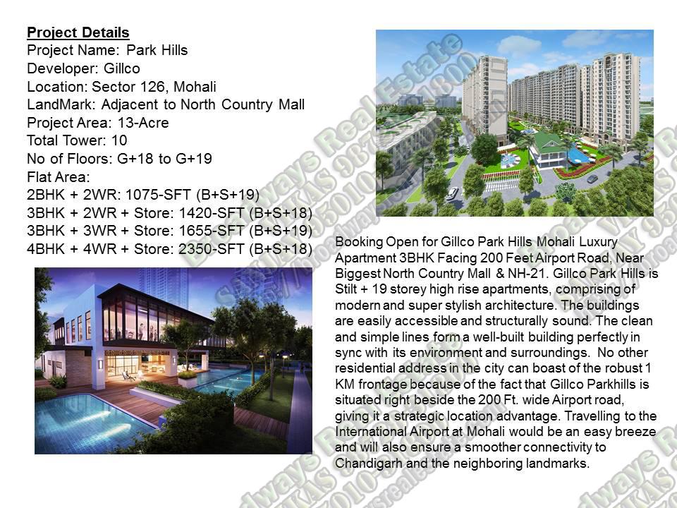 Gillco Park Hills Mohali Gillco Parkhills Flats Sector 126