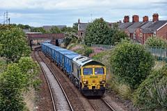 That's Rubbish (whosoever2) Tags: uk greatbritain railroad england train garbage nikon cheshire railway rubbish gb refuse northwich freightliner class66 66603 d7100 6f33