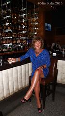 Bristol Blues (Miss Kellie Keene) Tags: blue woman sexy lauren beautiful silver necklace highheel dress legs sandals tan jewelry transgender bracelet hosiery earrings brunette elegant silky anklet stylish strappy hanes ninewest slingback misskellie