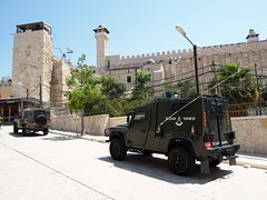 Armed cars near The old city, Hebron!