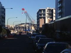 Crane looming (highplains68) Tags: car australia nsw newsouthwales aus