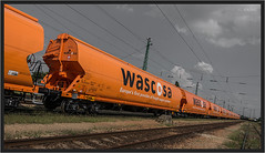 "Brand New Hoppers ("" Wiener Schule "") Tags: railcar hopper waggon freightcar güterwagen wascosa tagnpps getreidewagen"