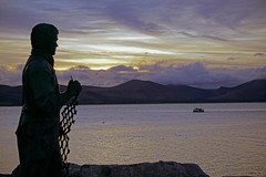 I Must Go Down to the Sea Again (Bernard Healy) Tags: fenit tralee seascape statue bronze sunset dusk boat fisherman