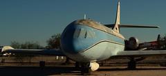Sud Aviation SE-210 VI-R Caravelle, 1961, N1001U - Pima Air & Space Museum, Tucson, Arizona. (edk7) Tags: nikond3200 edk7 2013 usa us arizona tucson arizonaaerospacefoundation pimaairspacemuseum sudaviationse210caravelle dash6r vir sn86 1961 n1001u civil passenger airliner jet aircraft plane airplane aviation twinengine rollsroyceavonra29mk533rturbojet12600lbf