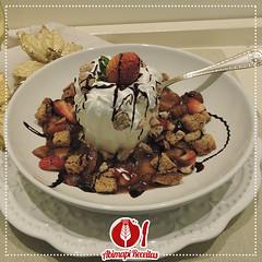 Sorvete com Crocante, Praliné e Maçã Caramelizada (Almanaque Culinário) Tags: receita food recipe comida culinária gastronomia